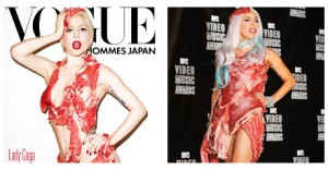 LADY GAGA beef dress